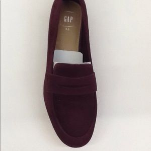 Gap  Faux Suede Burgundy Penny Loafers